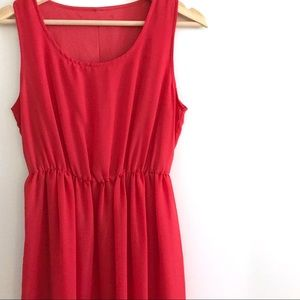 Forever 21 Red Layered Tank Dress